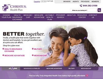 christushealthplan.org screenshot