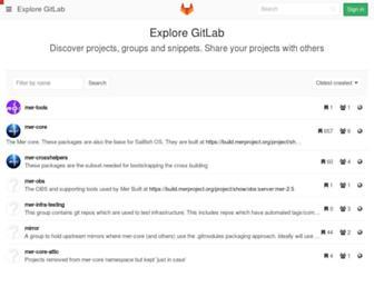 git.merproject.org screenshot