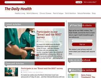 Main page screenshot of thehealthierlife.co.uk