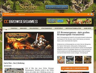 Main page screenshot of cc-browsergames.de