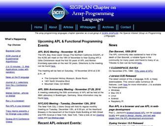 Main page screenshot of sigapl.org