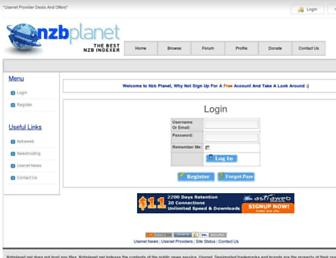 Thumbshot of Nzbplanet.net