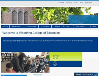 Main page screenshot of wce.wwu.edu