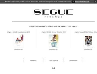 Main page screenshot of segue.it