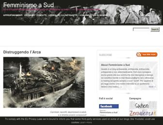 Main page screenshot of femminismo-a-sud.noblogs.org