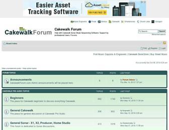 cakewalkforum.com screenshot