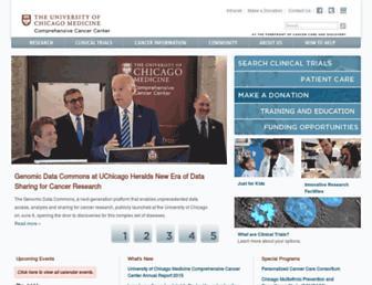 Main page screenshot of cancer.uchicago.edu