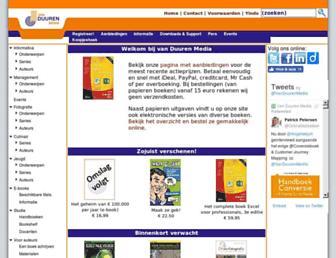 Main page screenshot of vanduurenmedia.nl