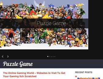 Main page screenshot of puzzlegame.org
