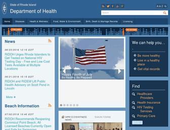 health.ri.gov screenshot
