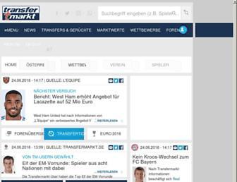 transfermarkt.at screenshot