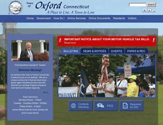 oxford-ct.gov screenshot