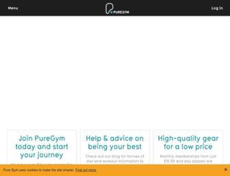 puregym.com screenshot