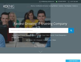 koenig-solutions.com screenshot