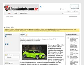 foros.hondaclub.com.ar screenshot
