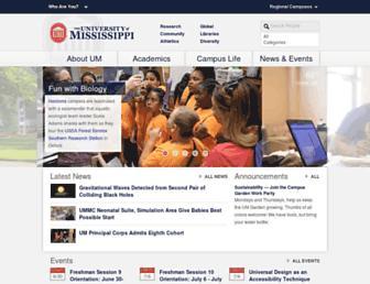olemiss.edu screenshot