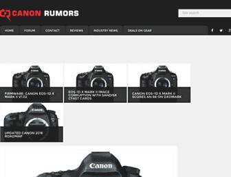 canonrumors.com screenshot