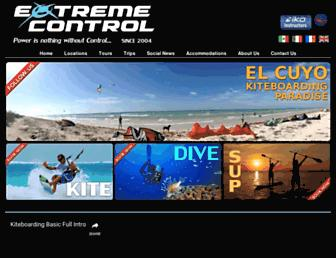 Main page screenshot of extremecontrol.net