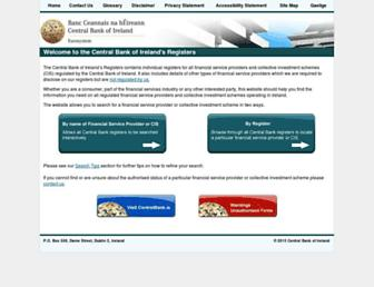 registers.centralbank.ie screenshot