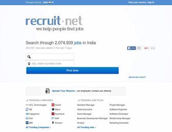 india.recruit.net screenshot