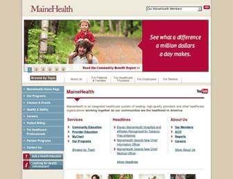 mainehealth.org screenshot