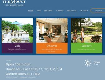 edithwharton.org screenshot