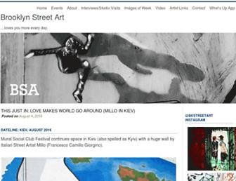 brooklynstreetart.com screenshot