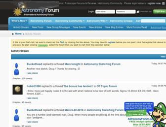 astronomyforum.net screenshot