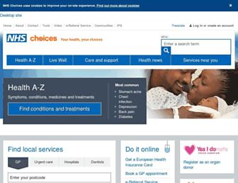 nhs.uk screenshot