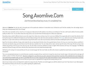 song.axomlive.com screenshot