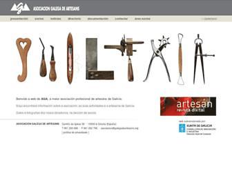 Main page screenshot of galegadeartesans.org
