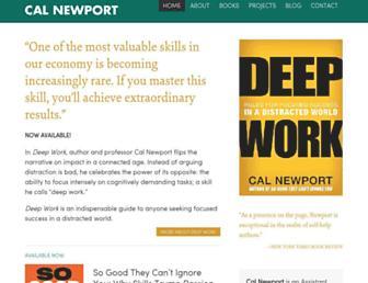 Thumbshot of Calnewport.com