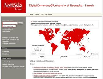 digitalcommons.unl.edu screenshot