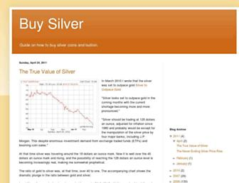 Main page screenshot of buy-silver.goldprice.org