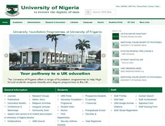 Thumbshot of Unn.edu.ng