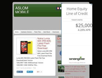 aslommobile5.blogspot.com screenshot