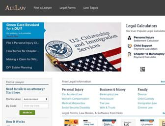 Thumbshot of Alllaw.com