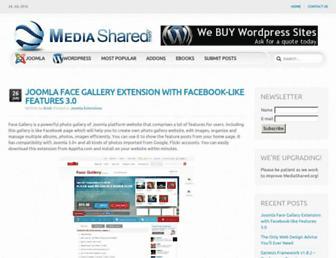 Main page screenshot of mediashared.org