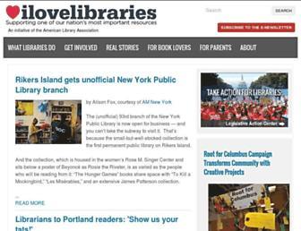 ilovelibraries.org screenshot