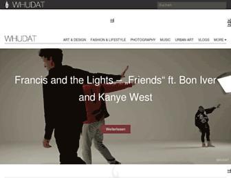Main page screenshot of whudat.de