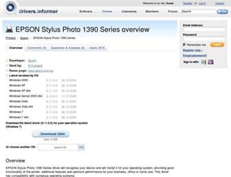 epson-stylus-photo-1390-series.drivers.informer.com screenshot