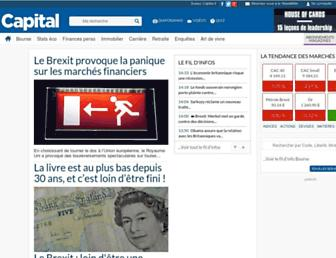 Main page screenshot of capital.fr