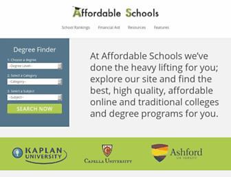 affordableschools.net screenshot