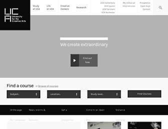 uca.ac.uk screenshot