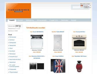 Main page screenshot of tehnikastuudio.ee