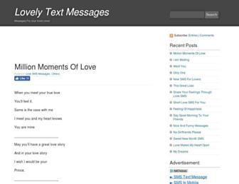 lovelytextmessages.com screenshot