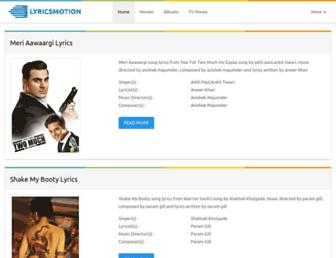lyricsmotion.com screenshot