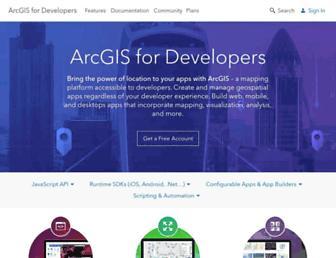 developers.arcgis.com screenshot