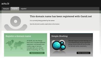 Main page screenshot of actu.fr