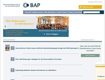 Main page screenshot of bza.de